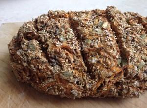 Carrot rye bread 1